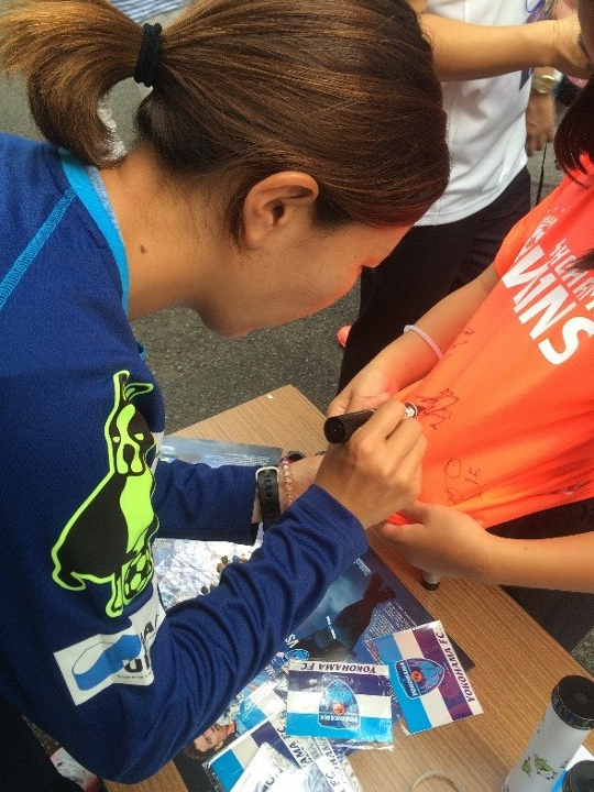 横浜FC ECOパートナーDAY エコクル 万華鏡製作体験教室 リサイクル 吉田瑞季選手