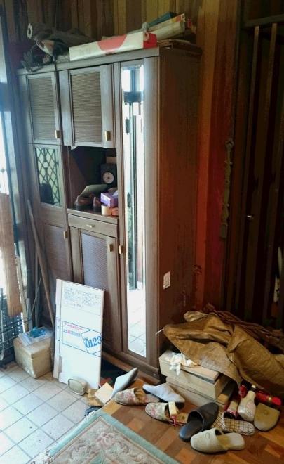 玄関まわり 片づけ 粗大ごみ回収 横浜市 個人宅 エコクル