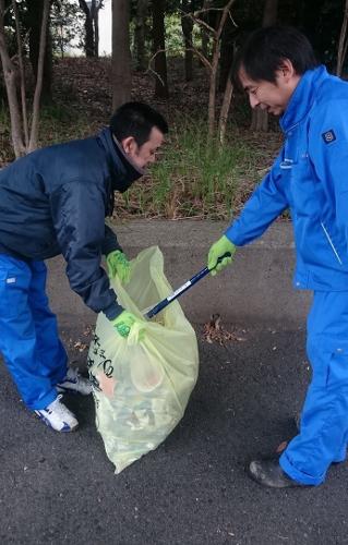 ハマロードサポート活動 清掃活動 金沢区 並木北駅付近