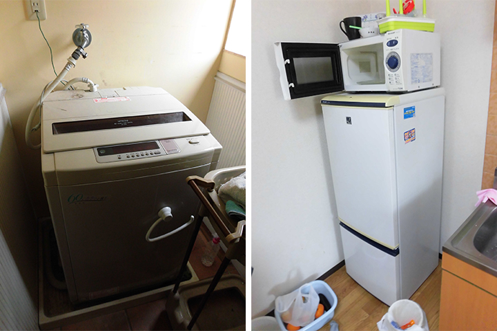 洗濯機、冷蔵庫