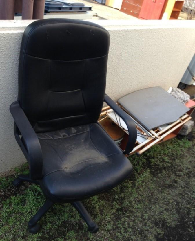 事務椅子 リクライニング付 廃棄